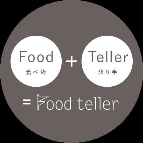 Food(食べ物)+Teller(語り手)=Food teller